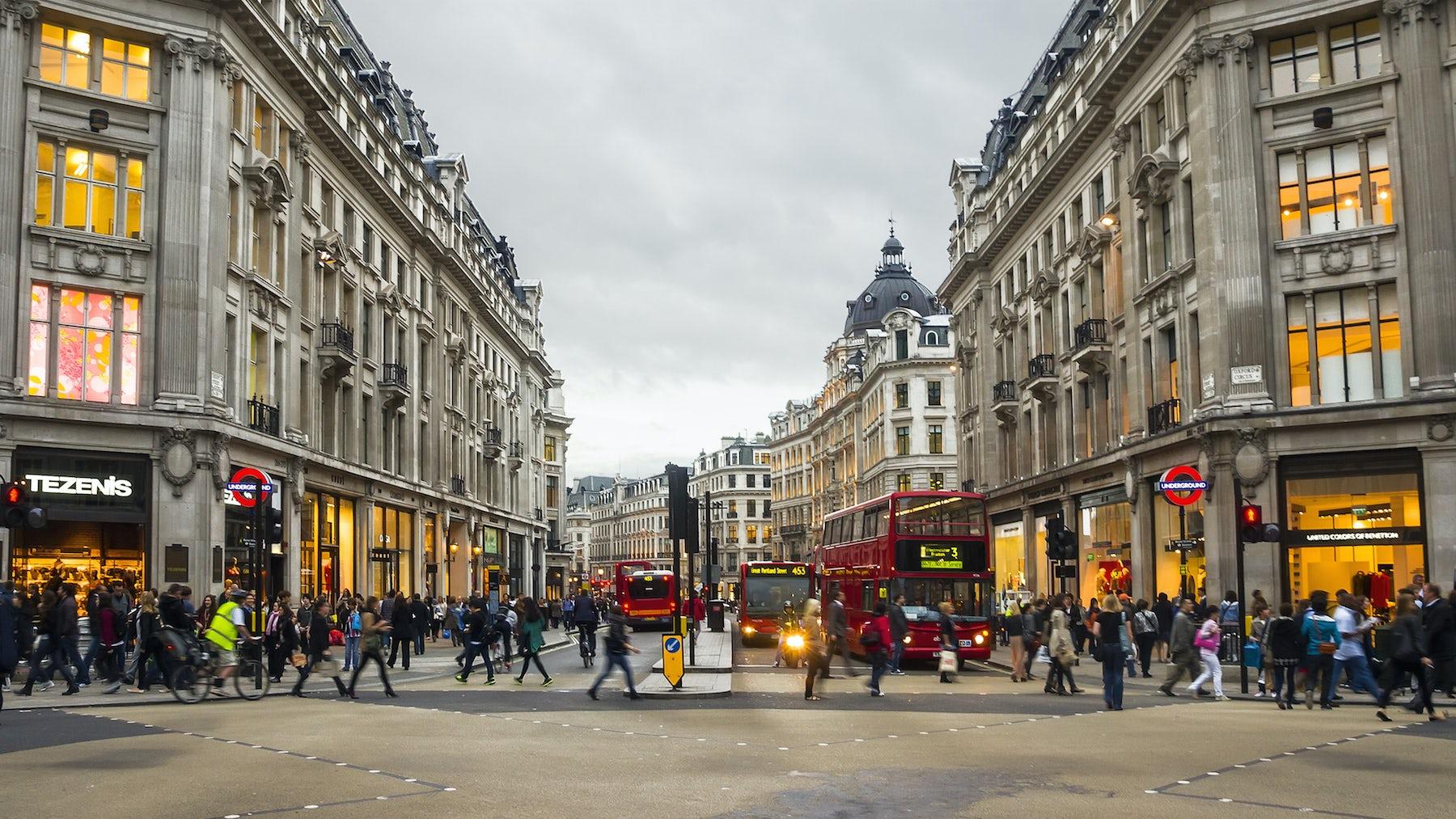 Shoppers on Oxford Street, London | Source: Shutterstock