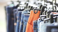 A rack of jeans | Source: Shutterstock