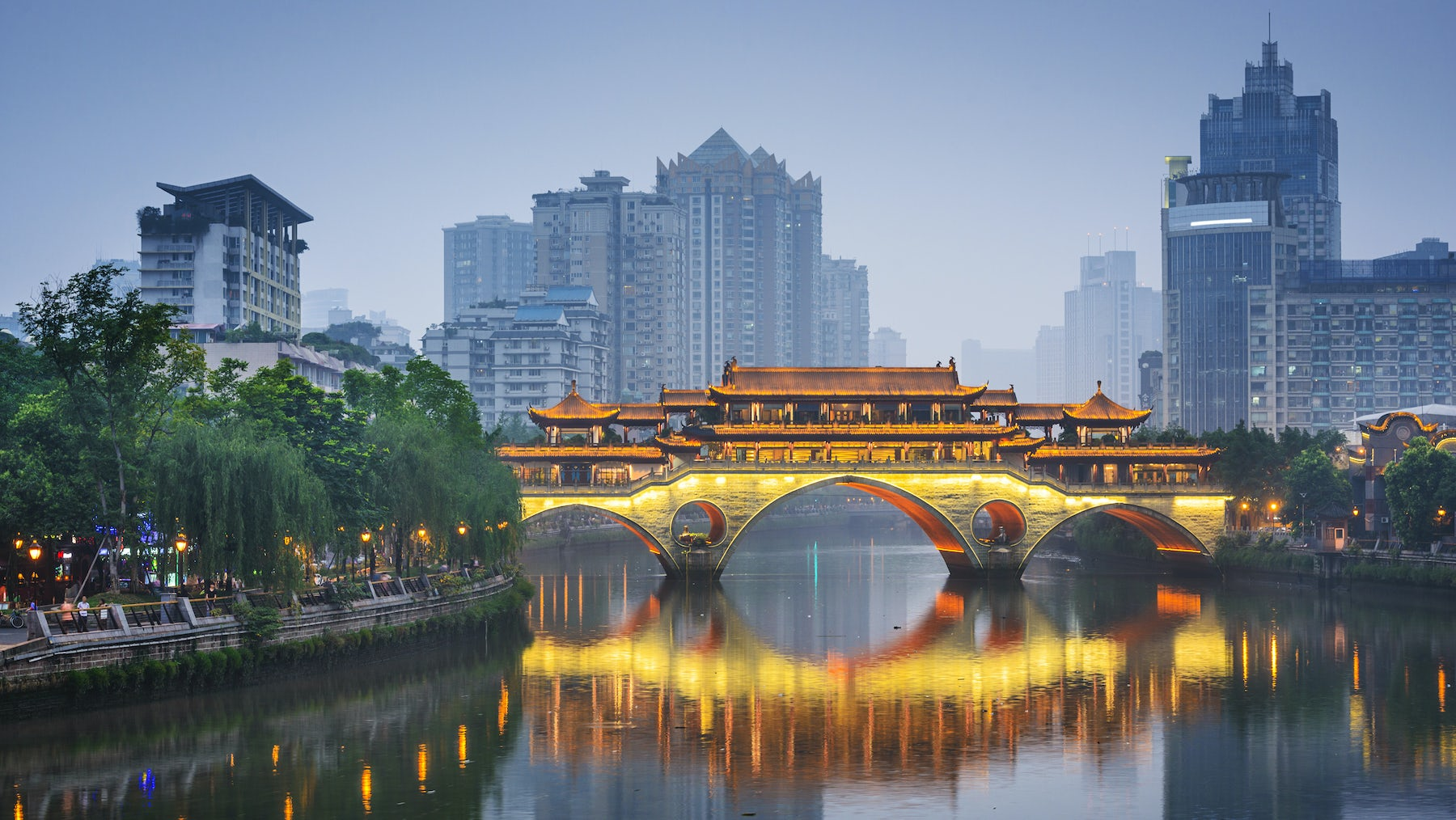 Chengdu, the capital of Sichuan province, China | Source: Shutterstock