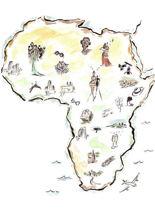 Africa | Illustration by Clym Evernden