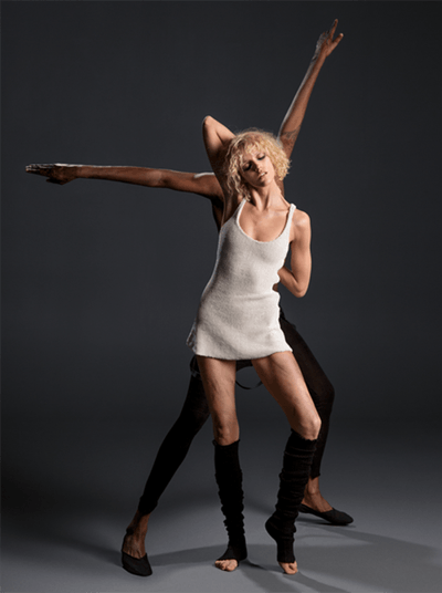 Anja Rubik and Stephen Galloway; styled by Mel Ottenberg; hair by Shay; make-up by Wendy Rowe | Photo: Inez and Vinoodh