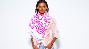 Liya Kebede wearing Lemlem | Source: Courtesy