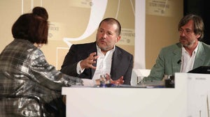 Suzy Menkes, Jonathan Ive and Marc Newson at Condé Nast International Luxury Conference | Andreas Rentz/Getty Images for Condé Nast International Luxury Conference