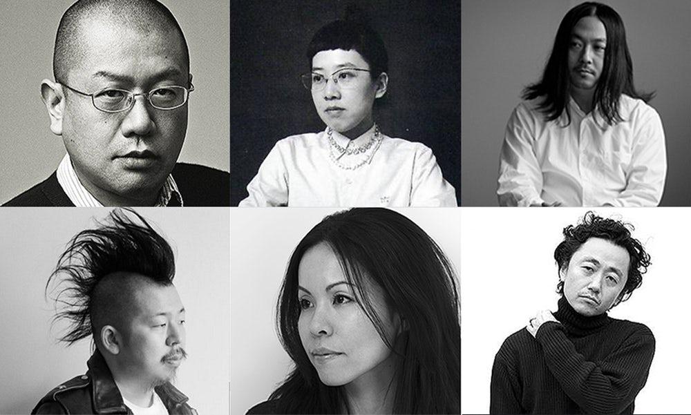 Clockwise from top-left: Junya Watanabe, Tao Kurihara, Fumito Ganryu, Junichi Abe, Chitose Abe, Kei Ninomiya