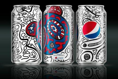 Nicola Formichetti puts his Nicopanda twist on Pepsi cans | Source: PepsiCo