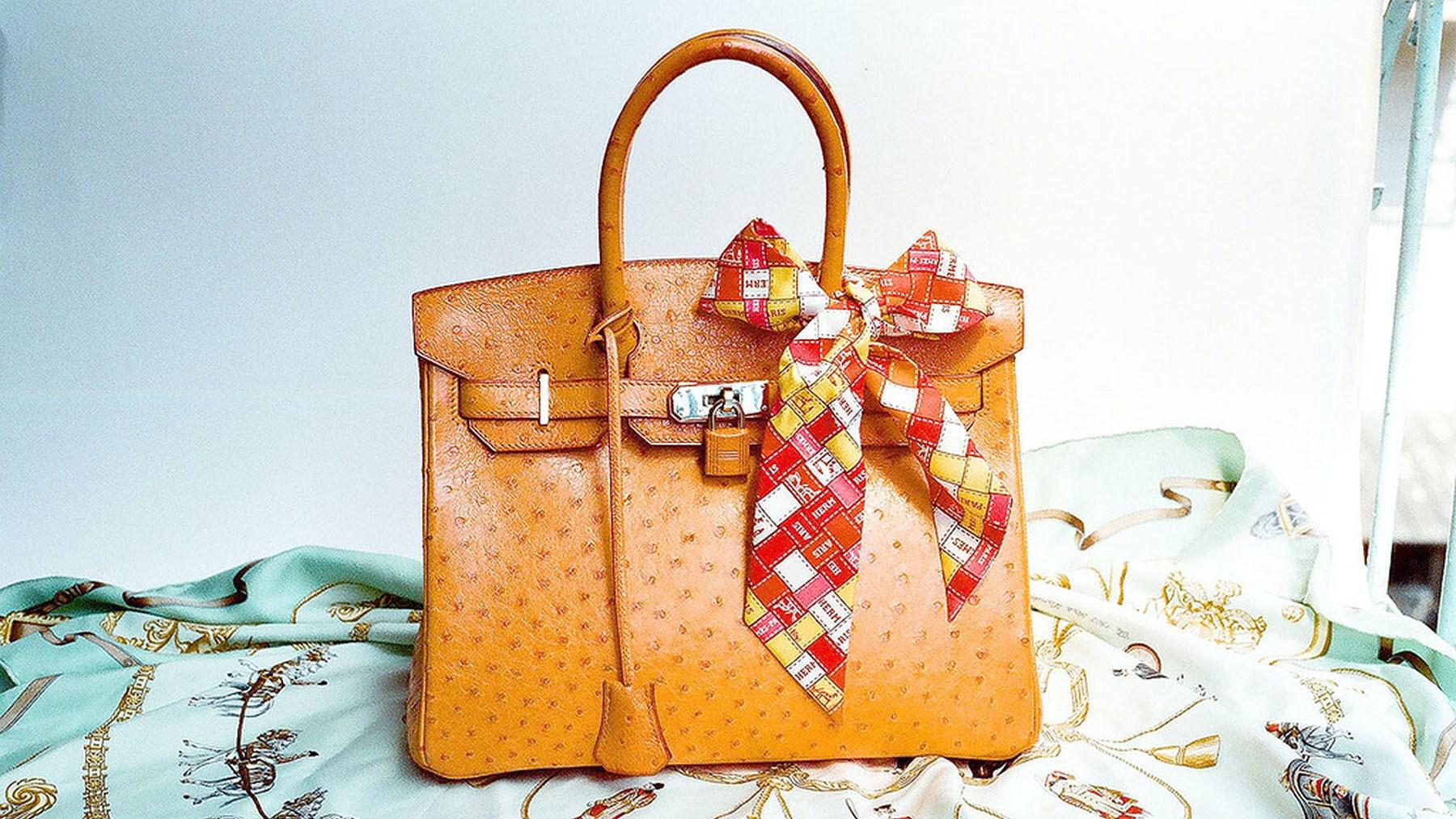 Hermès ostrich Birkin bag | Source: Flickr/Liuwencheng