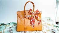 Hermès ostrich Birkin bag | Source: Flickr/Liuwencheng