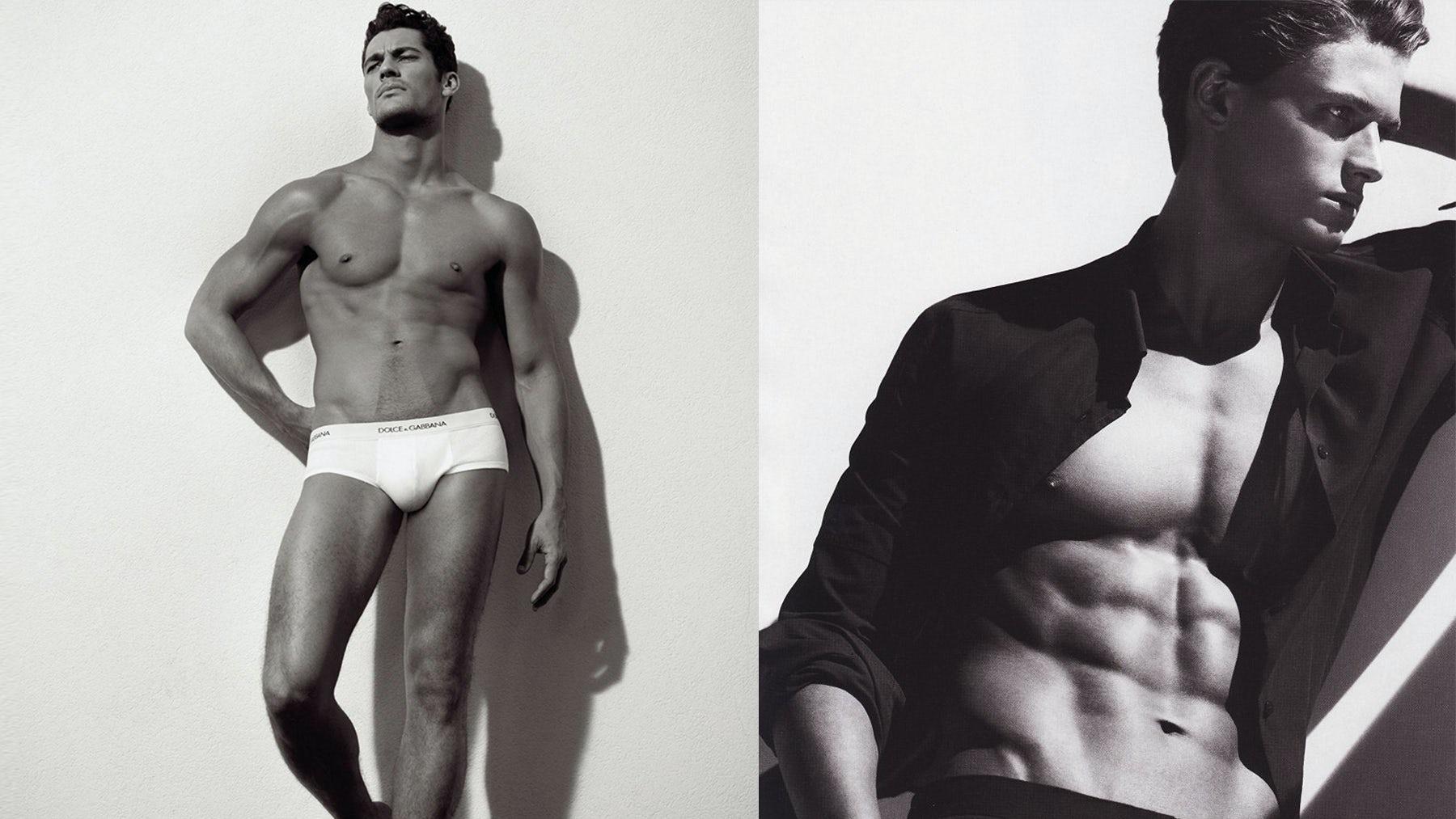 David Gandy for Dolce & Gabbana and Garrett Neff for Calvin Klein   Source: BoF