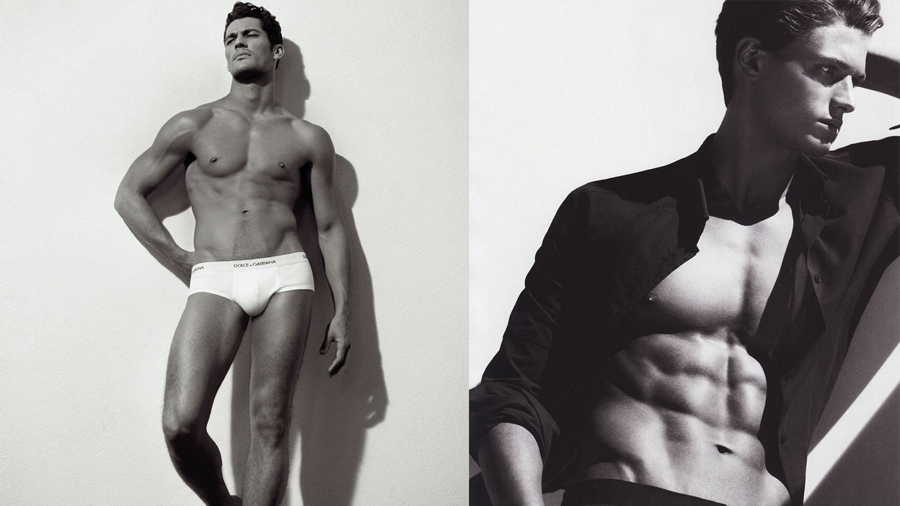 David Gandy for Dolce & Gabbana and Garrett Neff for Calvin Klein | Source: BoF