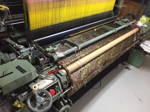 One of Hosoo's custom looms at work | Source: BoF