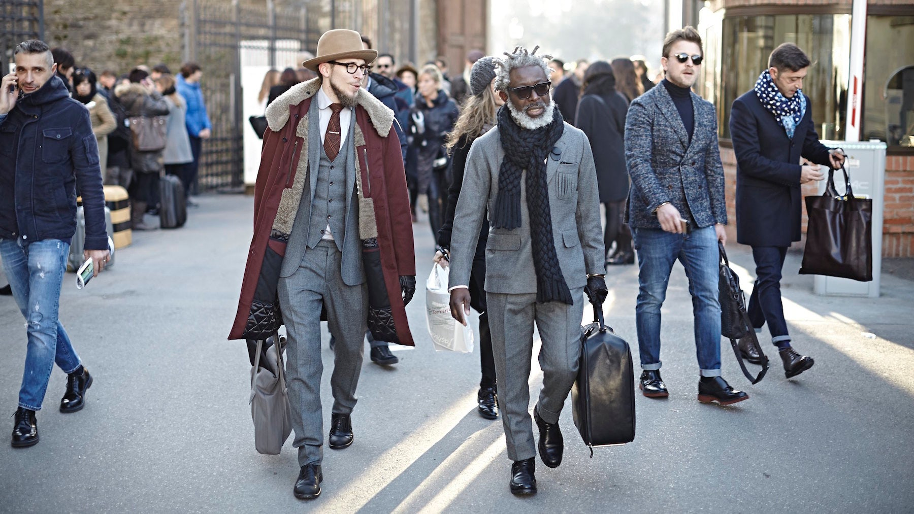 Attendees at Pitti Uomo | Source: Pitti Uomo