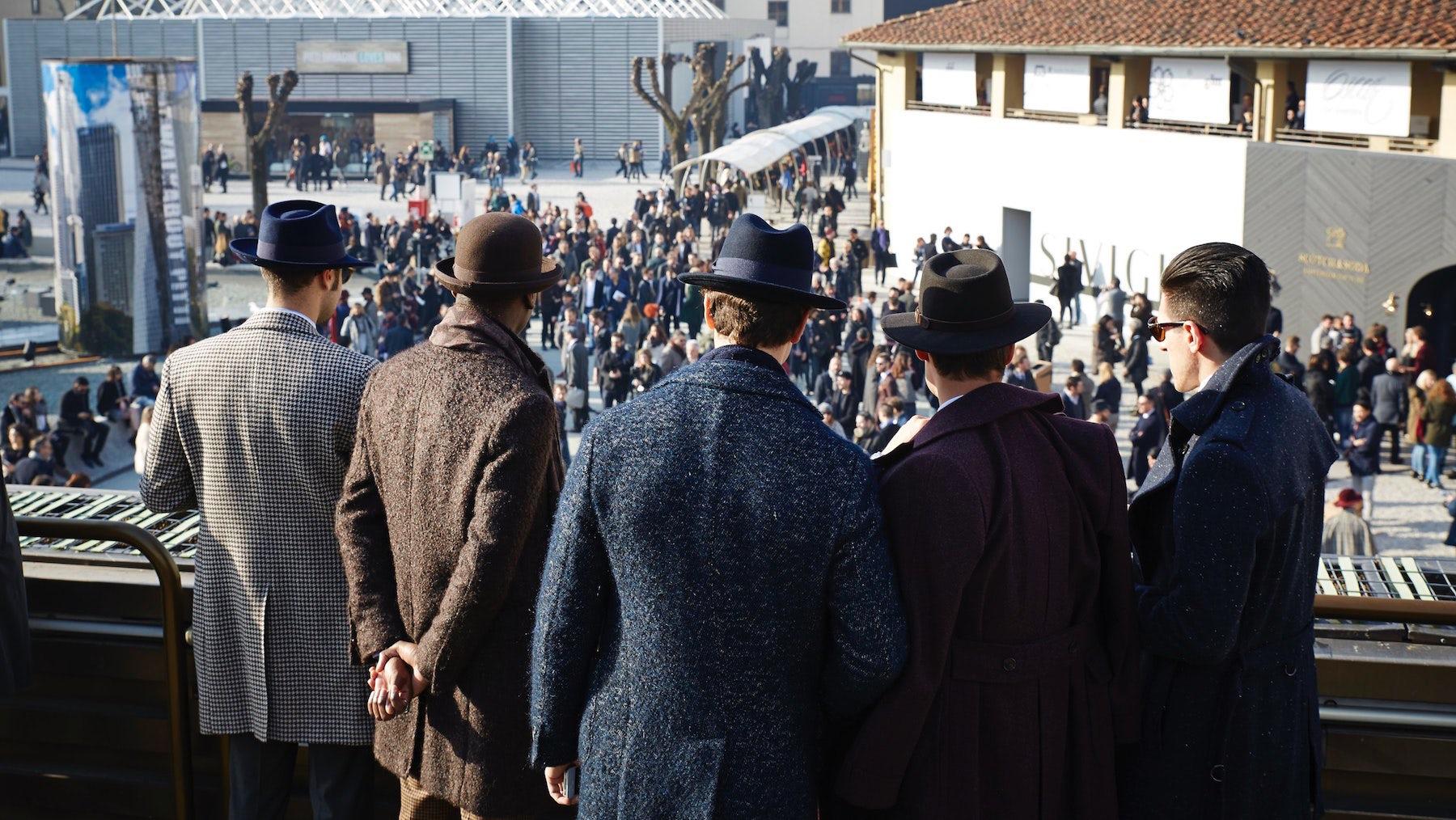 Attendees at Pitti Uomo   Source: Pitti Uomo