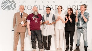 The European winners of the 2015/2016 International Woolmark Prize, with the judges | Source: Courtesy