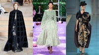 From left: Valentino, Dior, Margiela Haute Couture Fall 2015   Source: Indigital