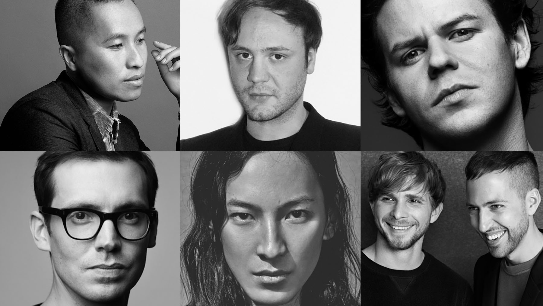 From left: Phillip Lim, Nicholas Kirkwood, Christopher Kane, Erdem Moralioglu, Alexander Wang, Peter Pilotto and Christopher de Vos | Source: Courtesy