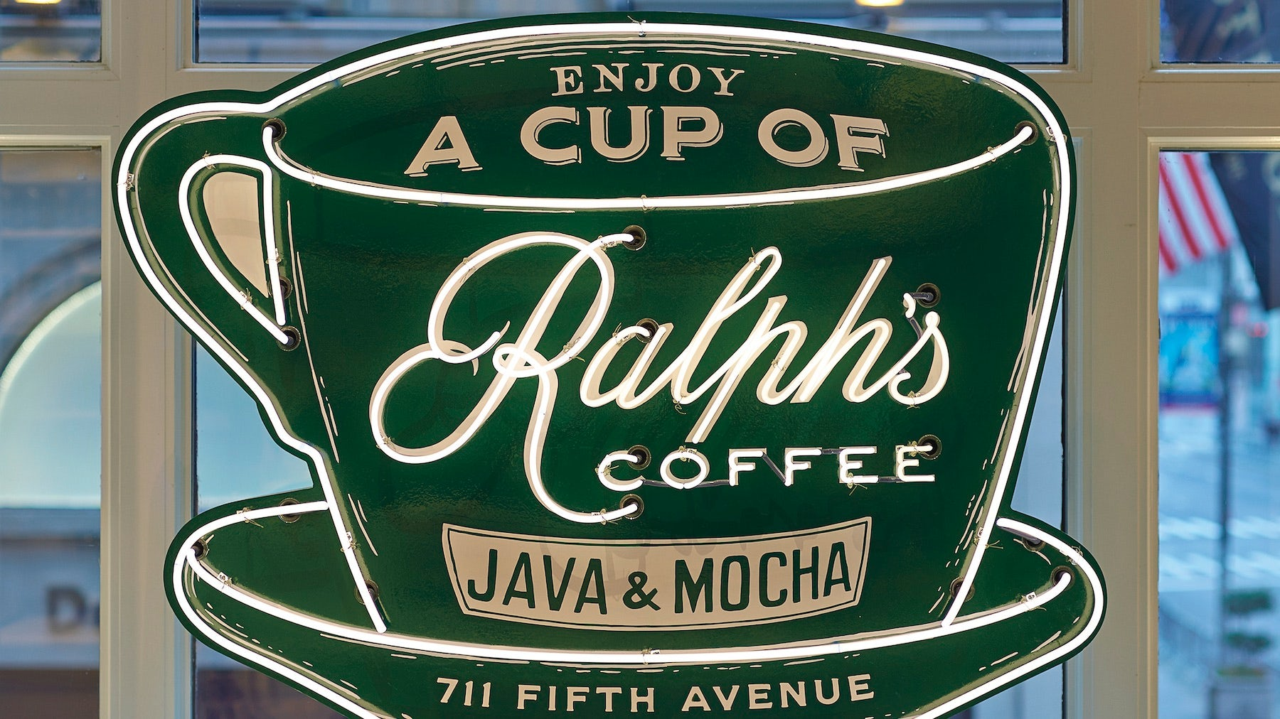 Ralph's Coffee sign | Source: Courtesy