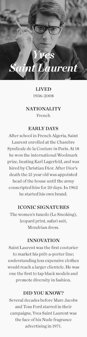 Yves Saint Laurent 1936 2008 Education Bof