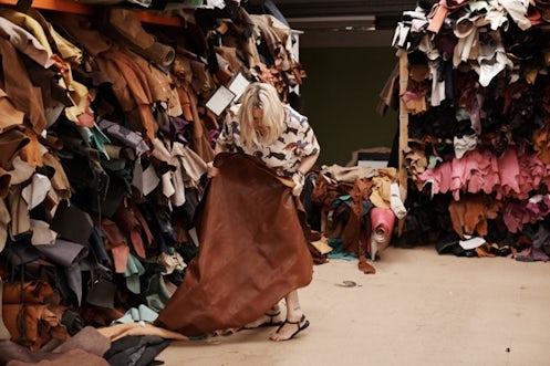 Emma Hill selecting leathers | Source: Venetia Dearden