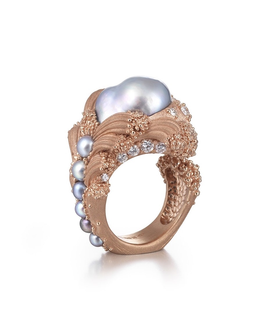 Ornella Iannuzz Arabian pearl ring | Source: Courtesy