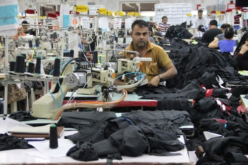 A garment worker at the Oasis factory | Photo: Ibraheem K. Shaheen