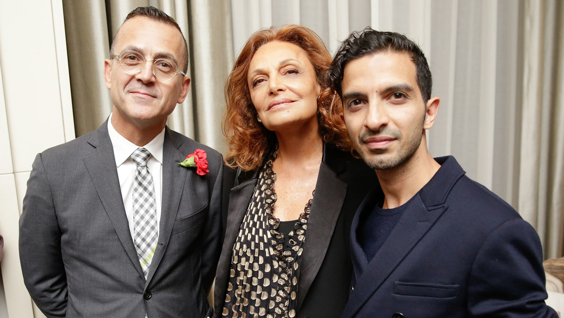 Steven Kolb, Diane von Furstenberg and Imran Amed | Photo: BFA NYC