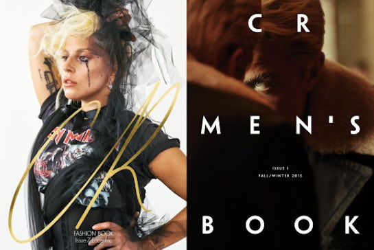 From left: Lady Gaga, cover of the first issue of CR Fashion Book | Source: Bruce Weber, Courtesy