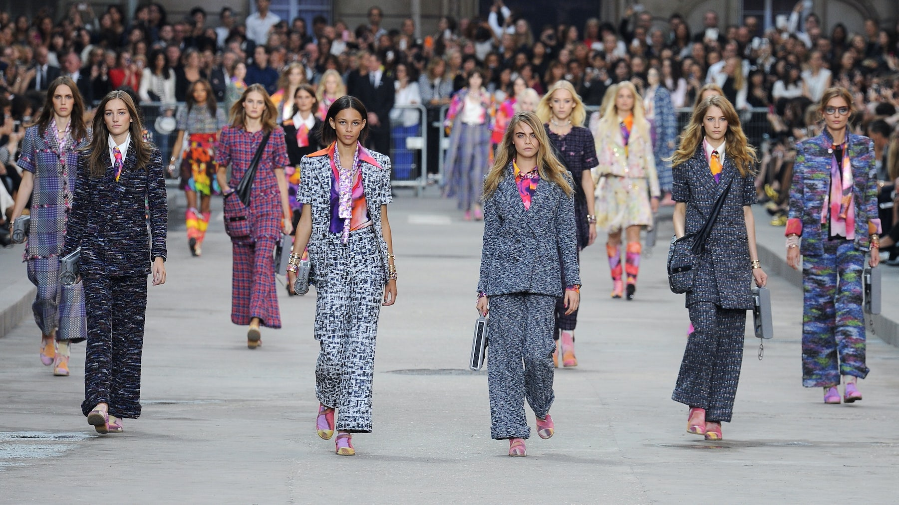 Models walk the runway at Chanel Spring/Summer 2015 | Source: Indigital