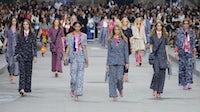 Models walk the runway at Chanel Spring/Summer 2015   Source: Indigital