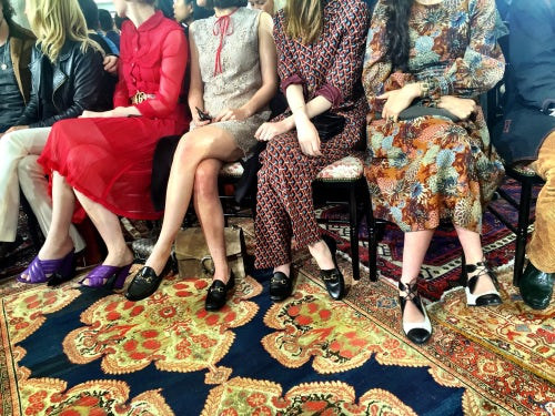 The front row at Gucci Cruise 2016 | Source: BoF