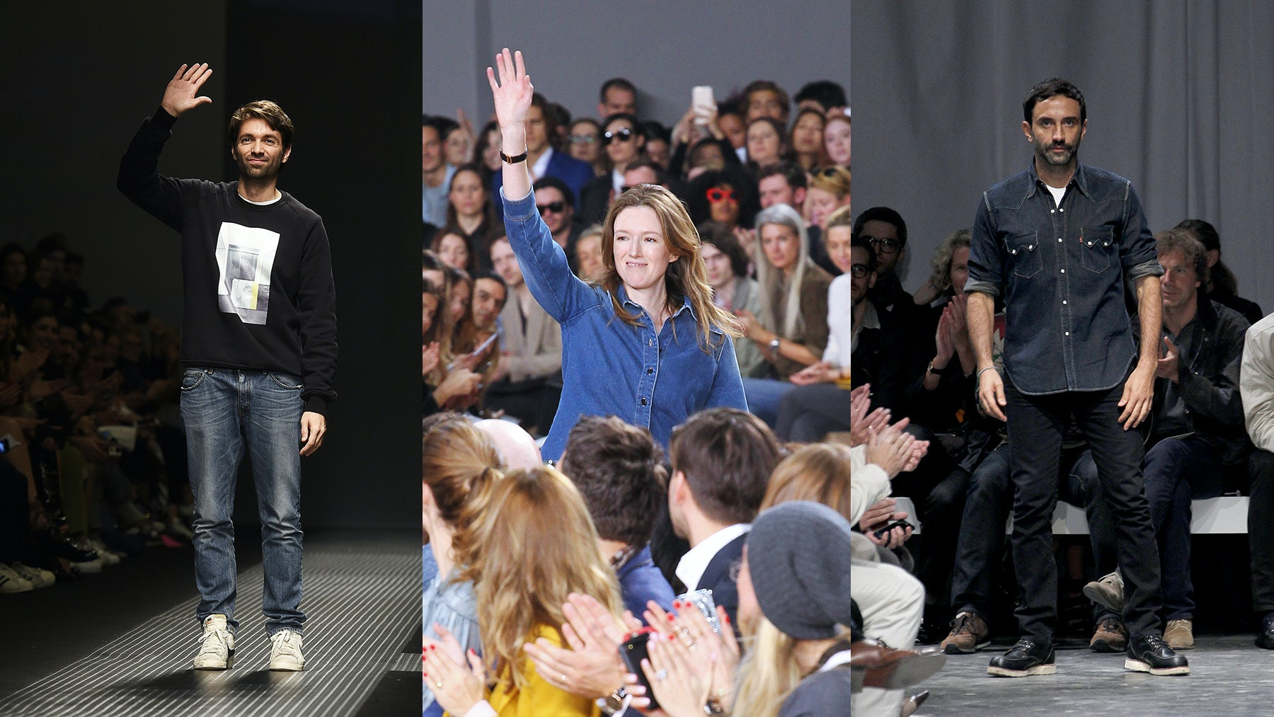 From left: Massimo Giorgetti, Clare Waight Keller, Riccardo Tisci | Source: Indigital