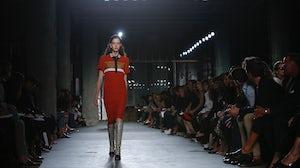 A model walks for Proenza Schouler Spring/Summer 2015 |Source: Indigital
