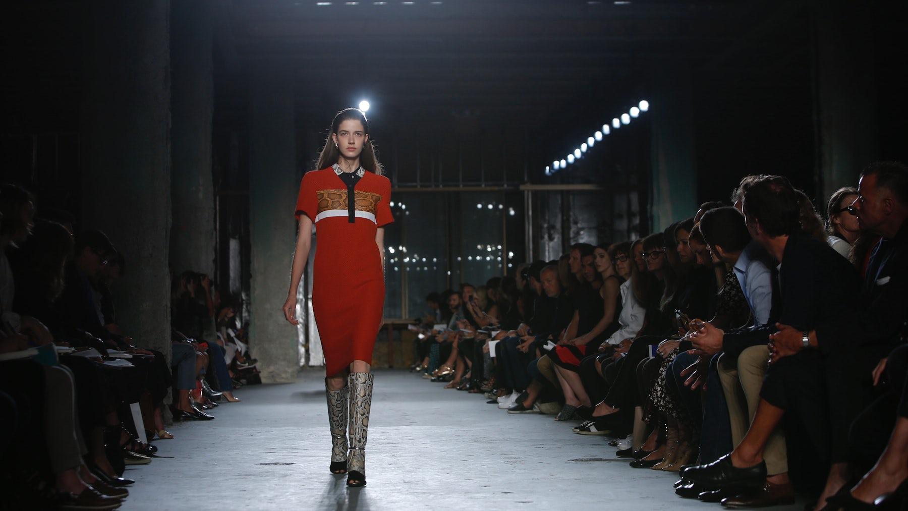 A model walks for Proenza Schouler Spring/Summer 2015  Source: Indigital