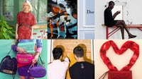 Instagram posts by (clockwise) Louis Vuitton; Dior; Misha Nonoo; Valentino; Proenza Schouler; Moschino | Source: Instagram