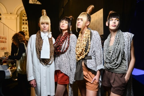 Goga Nikabadze SS16 collection at Mercedes-Benz Fashion Week Russia   Source: Courtesy