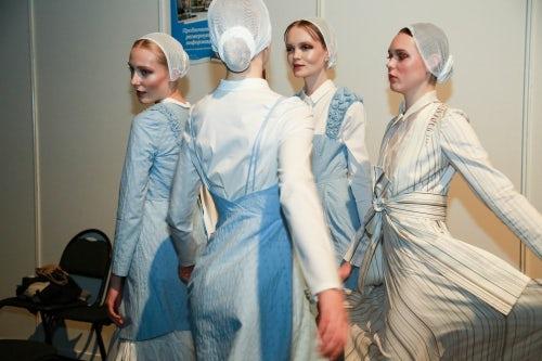 Araida SS16 backstage at Mercedes-Benz Fashion Week Russia   Source: Courtesy