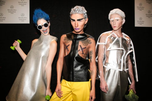 Contra fashion SS16 backstage at Mercedes-Benz Fashion Week Russia | Source: Courtesy