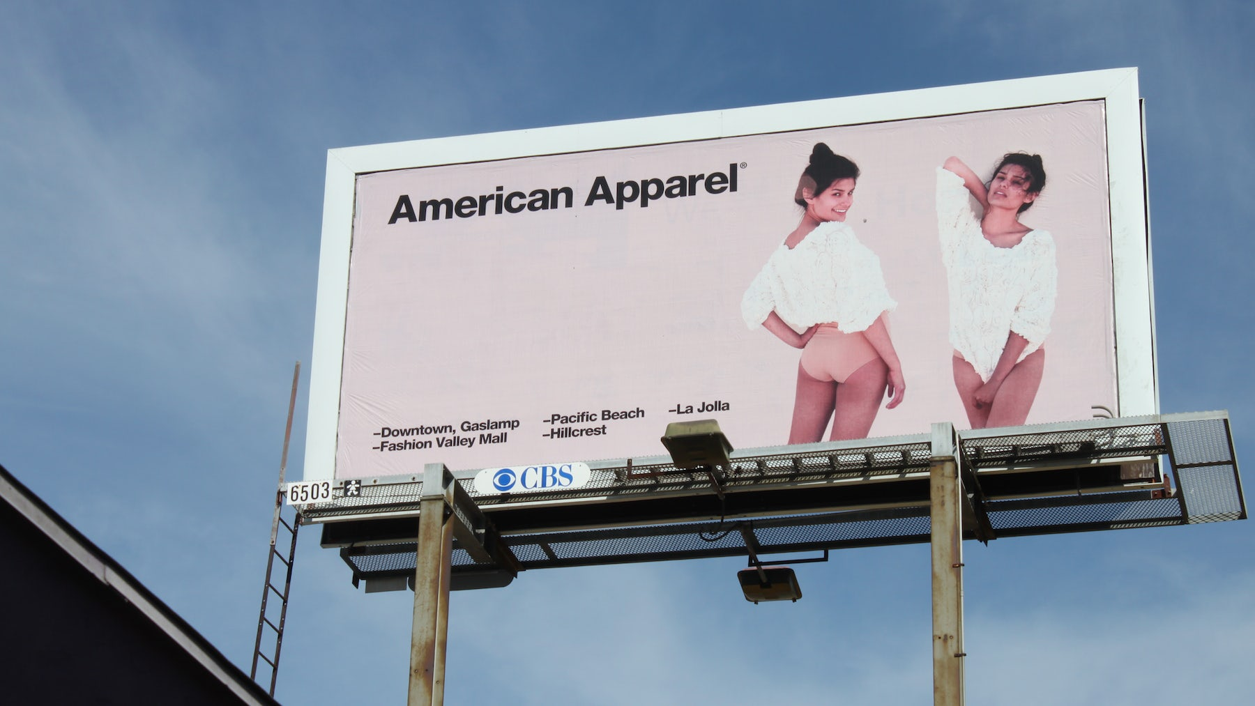 An American Apparel billboard | Source: Flickr/Emily Burnett