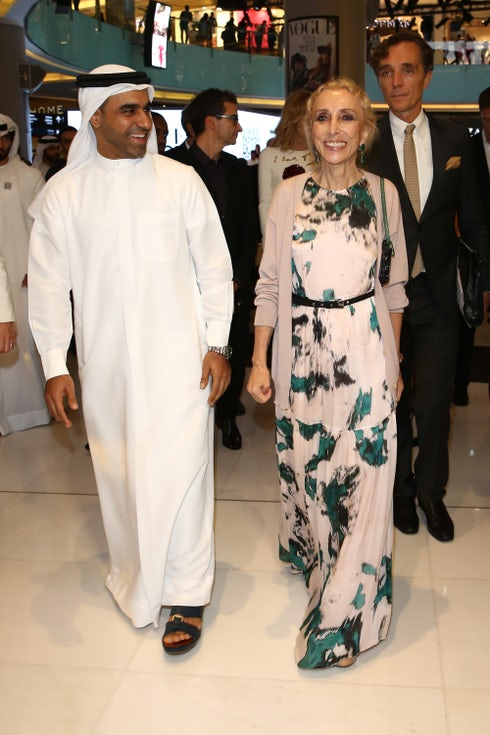 Emaar Malls Group CEO Nasser Rafi and Vogue Italia editor-in-chief Franca Sozzani | Source: Getty