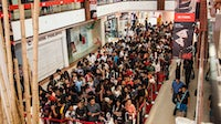Crowds at the opening of H&M's first store in India | Source: Courtesy