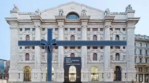 Façade of Milan Stock Exchange | Source: Yoox Net-a-Porter