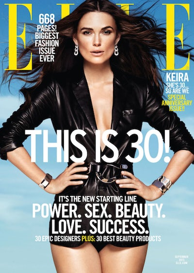 Keira Knightley covers Elle US, September 2015 | Source: Elle