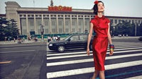 Red China in Vogue China Oct 2009, Featuring Du Juan, Photographer Chen Man | Source : Vogue China