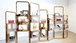 Roger Vivier shoes and accessories display | Source: Roger Vivier