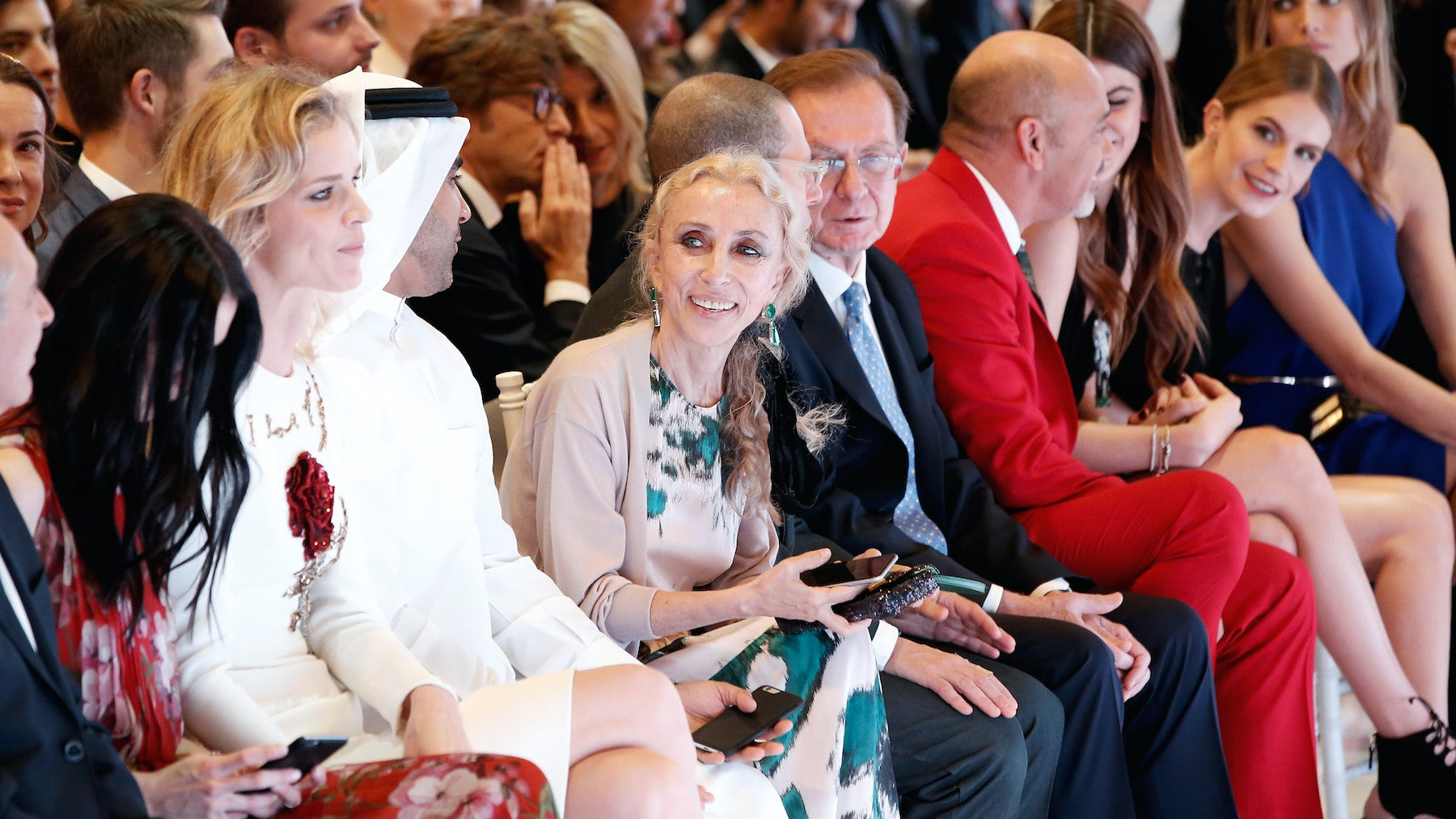 Franca Sozzani at the Vogue Fashion Dubai Experience runway show | Source: John Phillips/Getty