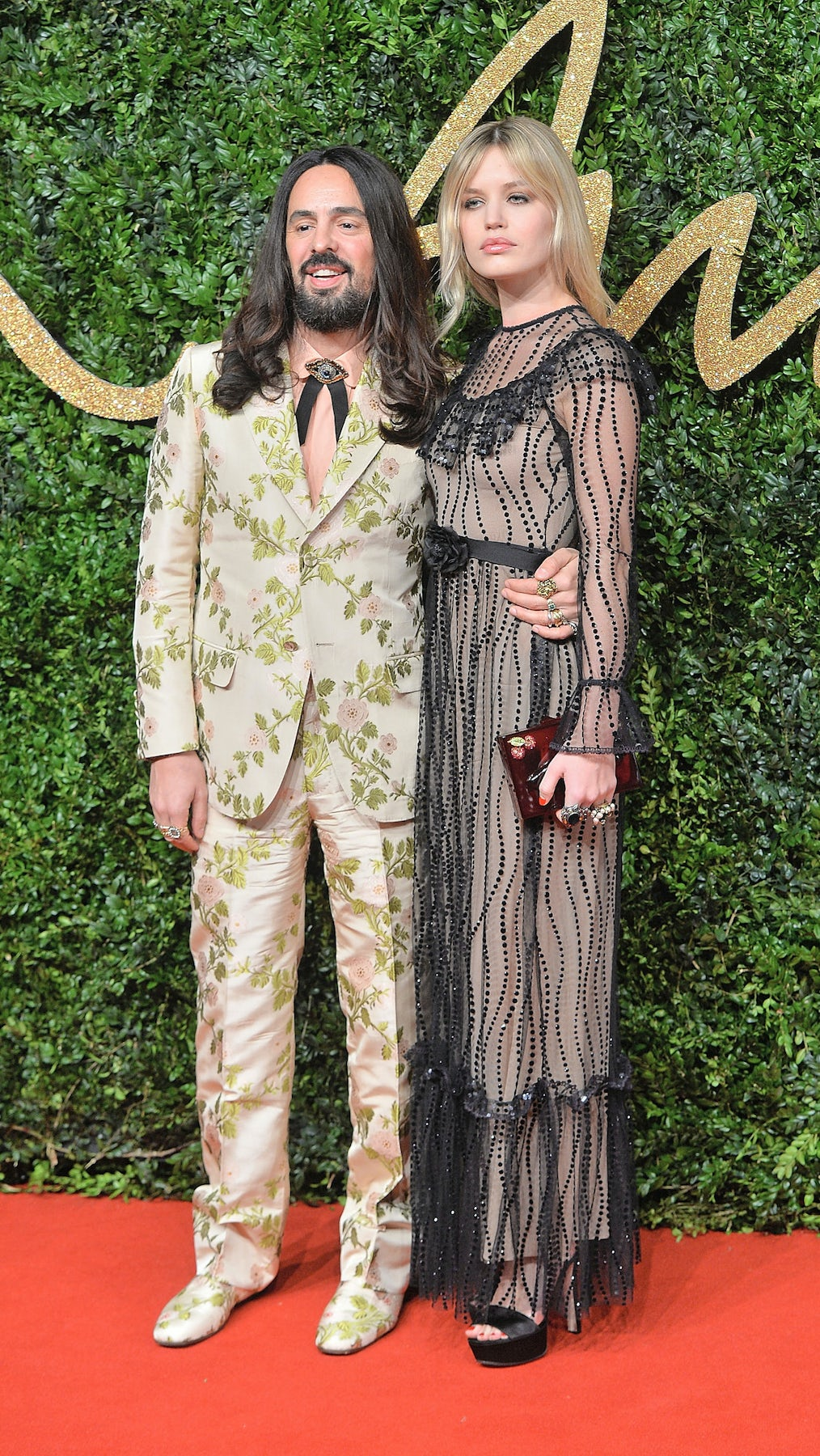 Alessandro Michele and Georgia Jagger at the 2015 British Fashion Awards | Source: Courtesy