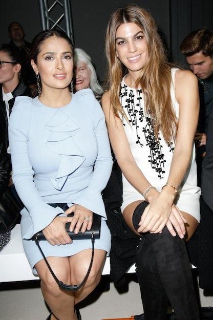 Selma Hayeck and Bianca Brandolini D'Adda at Valli's S/S16 show | Source: Indigital