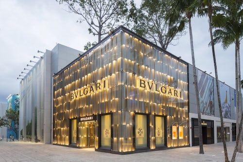 Bulgari store in the redeveloped Miami Design District | Source: Shutterstock