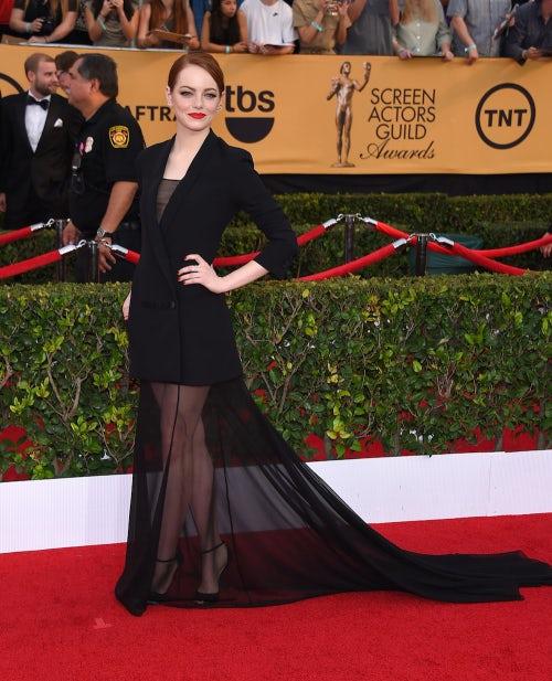 Emma Stone in Christian Dior Couture | Source: Shutterstock