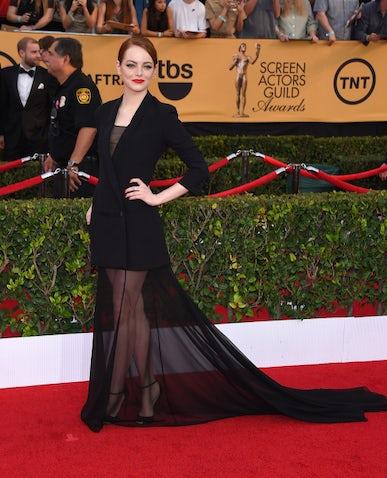Emma Stone in Christian Dior Couture   Source: Shutterstock