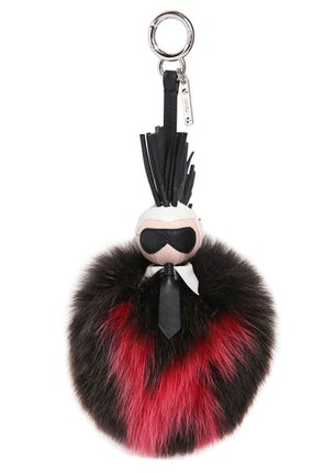 13fd6702bc Fendi's 'Karlito' fox fur charm | Source: Fendi